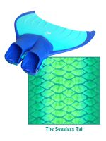 The Sea Glass Tail - Mermaid Monofin + Tail Combo Set